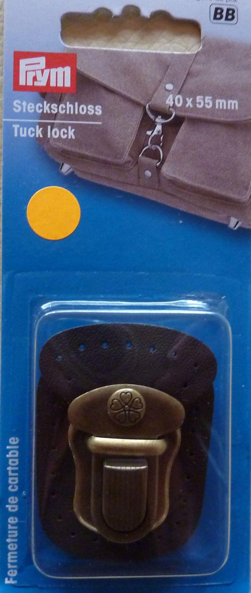 Kleinesbild - ✂ Steckverschluss mit Leder (braun) zum Annähen