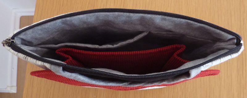 Kleinesbild - ♥ kleine Kosmetiktasche  mit Außentaschen und Innenfächern