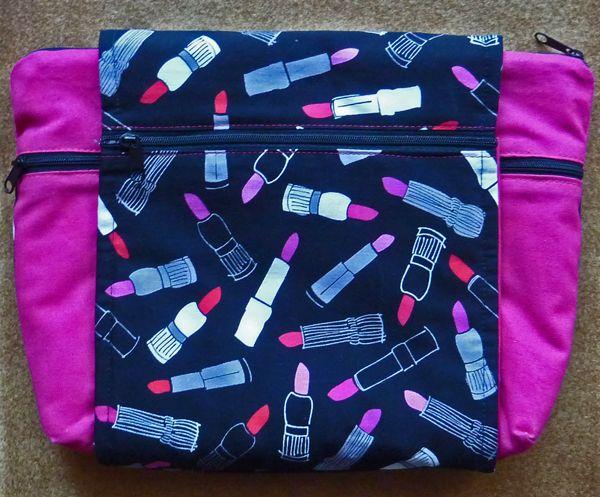 Kleinesbild - ♥ extravagante Kosmetiktasche  mit vielen Extras und Innentaschen