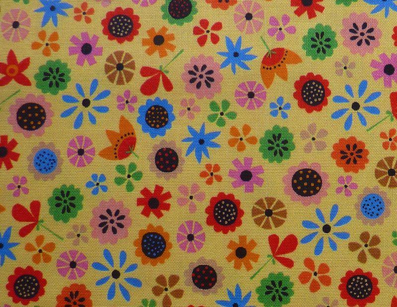 Kleinesbild - ✂ Patchworkstoffe Meterware QT Fabrics Sommerwiese
