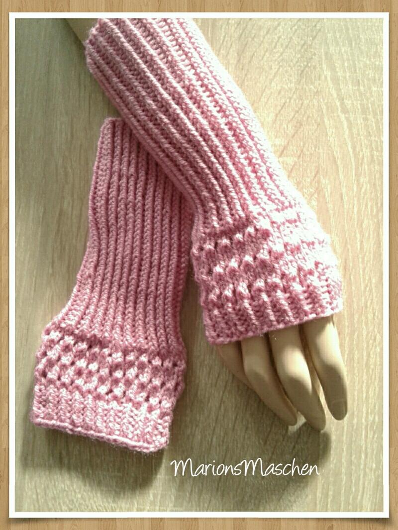 - Arm- und Handstulpen in pink • handgestrickt mit ❤    - Arm- und Handstulpen in pink • handgestrickt mit ❤