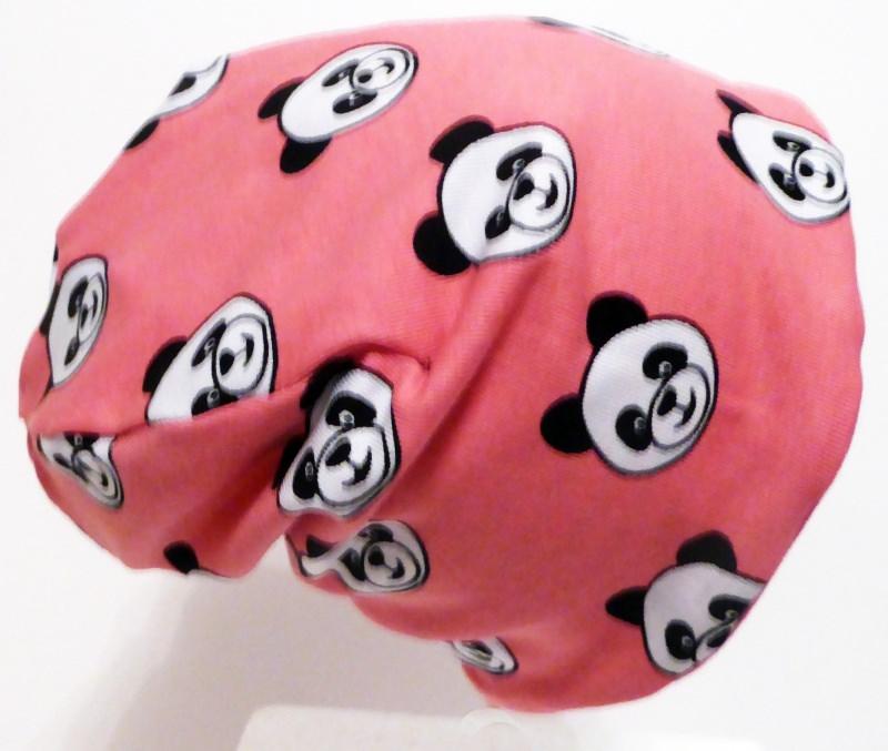 - SALE - Baby-Mütze - Beanie - Panda rosa - KU 40-45 - SALE - Baby-Mütze - Beanie - Panda rosa - KU 40-45