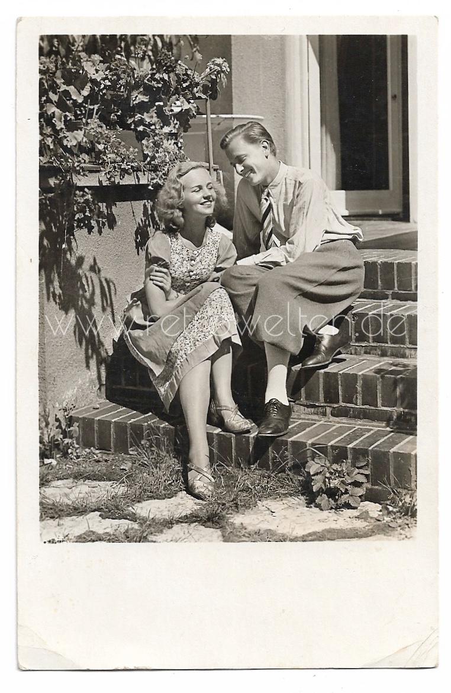 - Alte Foto Postkarte★ VERLIEBTES PAAR AUF WOLKE 7 ★  1944 - Alte Foto Postkarte★ VERLIEBTES PAAR AUF WOLKE 7 ★  1944