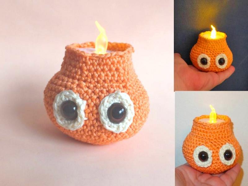 - kleine Kerze - little candlelight  Häkelanleitung - kleine Kerze - little candlelight  Häkelanleitung