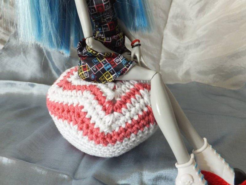 Kleinesbild - Sitzsack für Puppen ☆ ☆ Nadelkissen ☆ Häkelanleitung