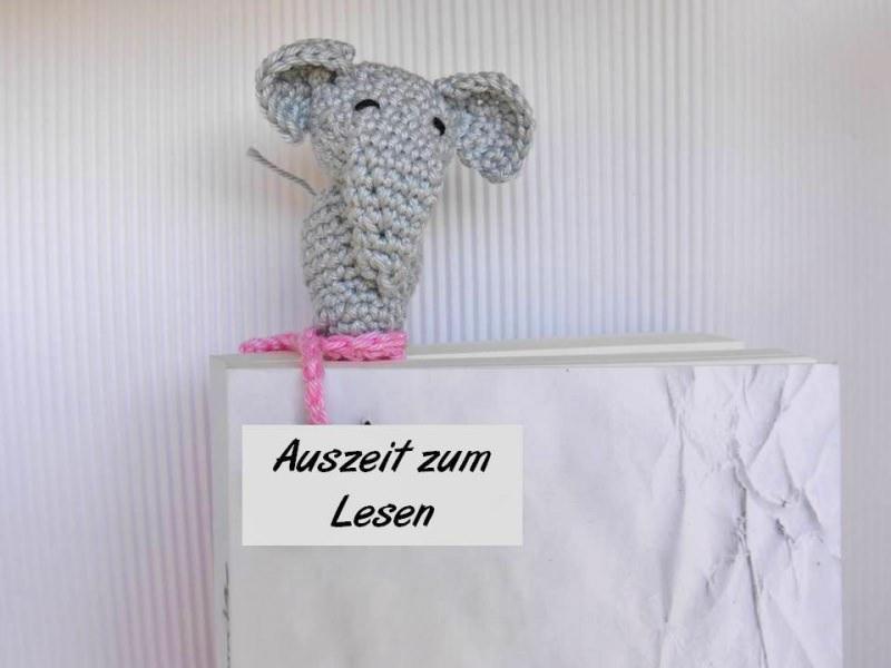 Amigurumi Elefant Lesezeichen häkeln | Supergurumi | 600x800