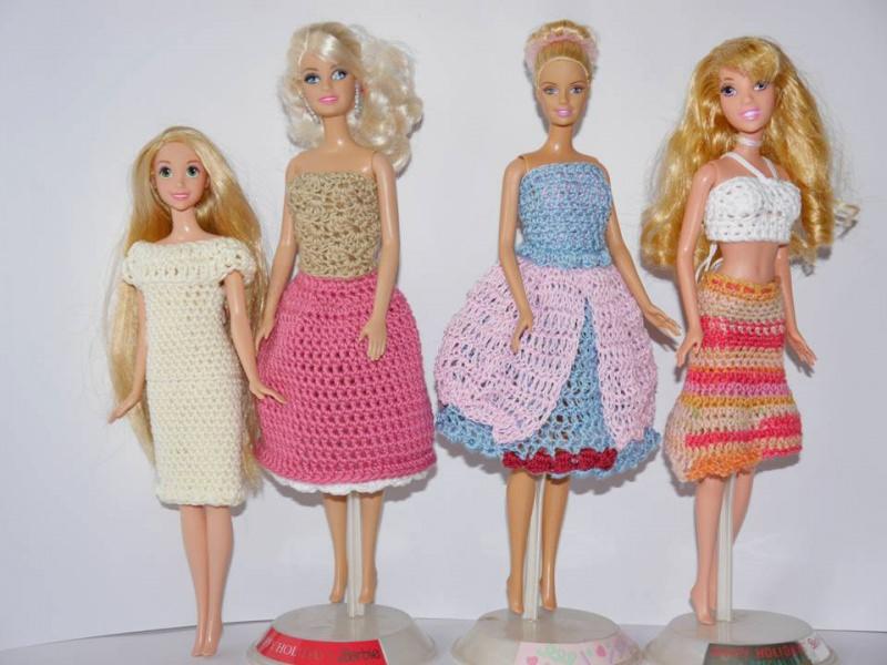 Häkelanleitungen : Puppenkleidung zum Häkeln ☆ Sommerkleider ...