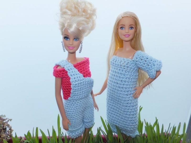 Spielsachen : Puppenkleidung Schick in Blau zum Häkeln ...