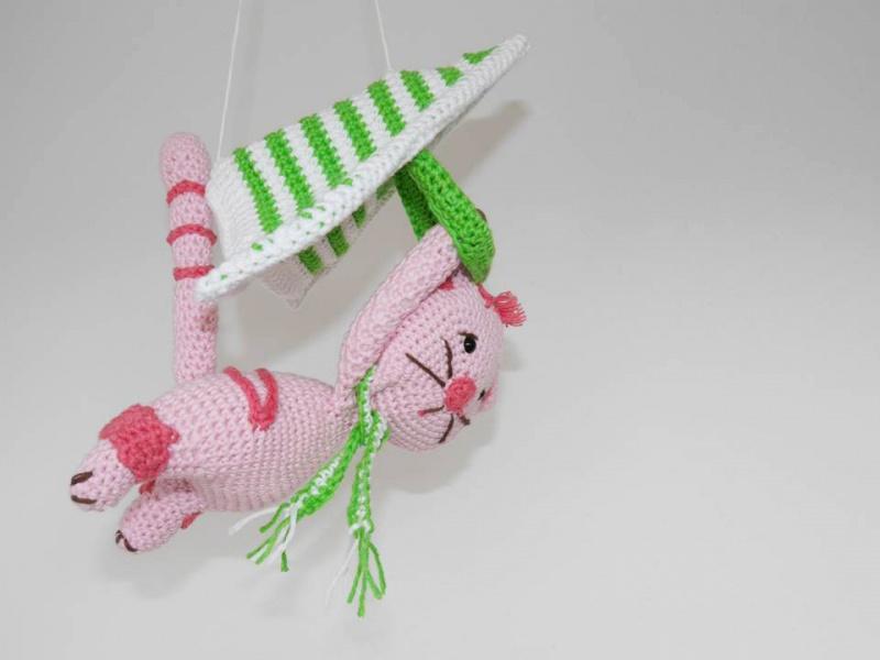 Kleinesbild - Das fliegende Kätzchen ☆ Häkelanleitung ☆ auch für Anfänger