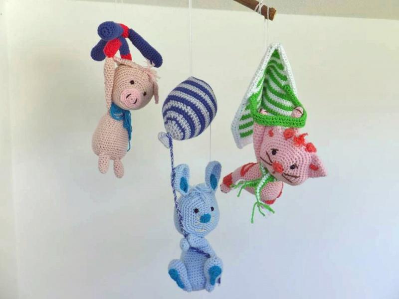 Kleinesbild - Set fliegende Tiere ☆ Häkelanleitung ☆ auch für Anfänger