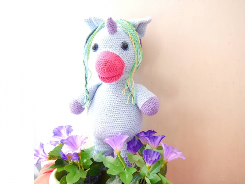 Einhorn · Häkelanleitung *Do it Yourself* | Amigurumi - YouTube | 600x800