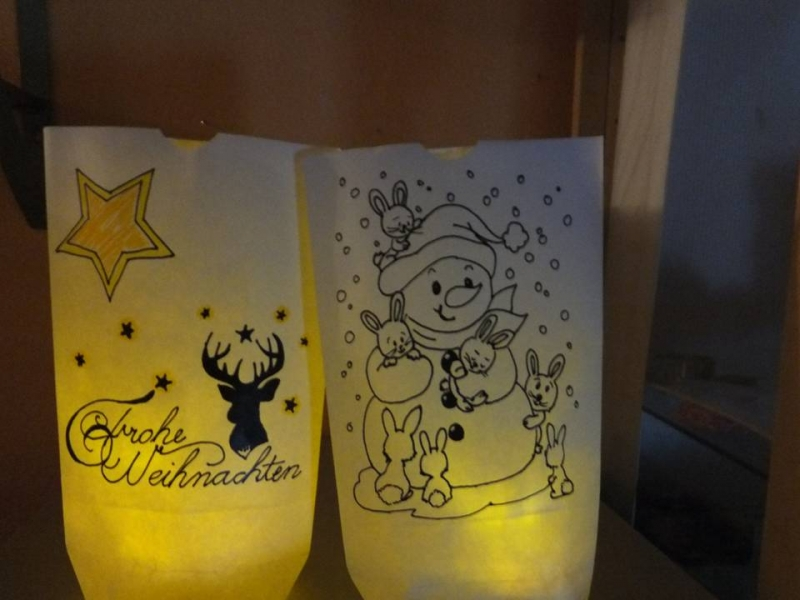 Kleinesbild - Lichtertüten Malvorlagen ☆ Bastelanleitung ☆ auch für Anfänger