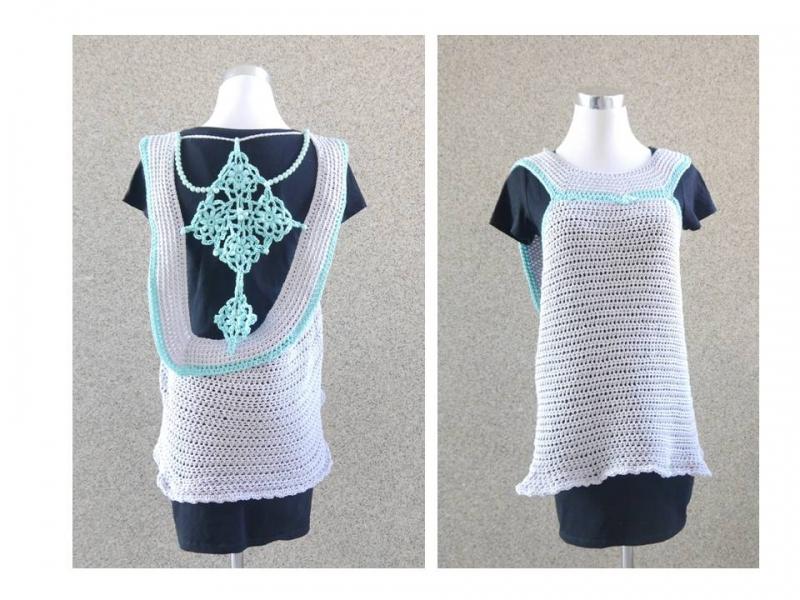 Kleinesbild - Tunika Shirt ☆ Häkelanleitung  ☆  auch für Anfänger