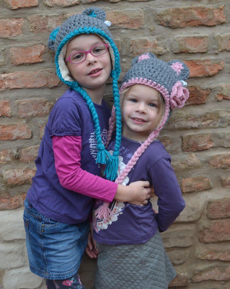 Kleinesbild - Kindermütze Ohrenklappenmütze Animalhat MAUS