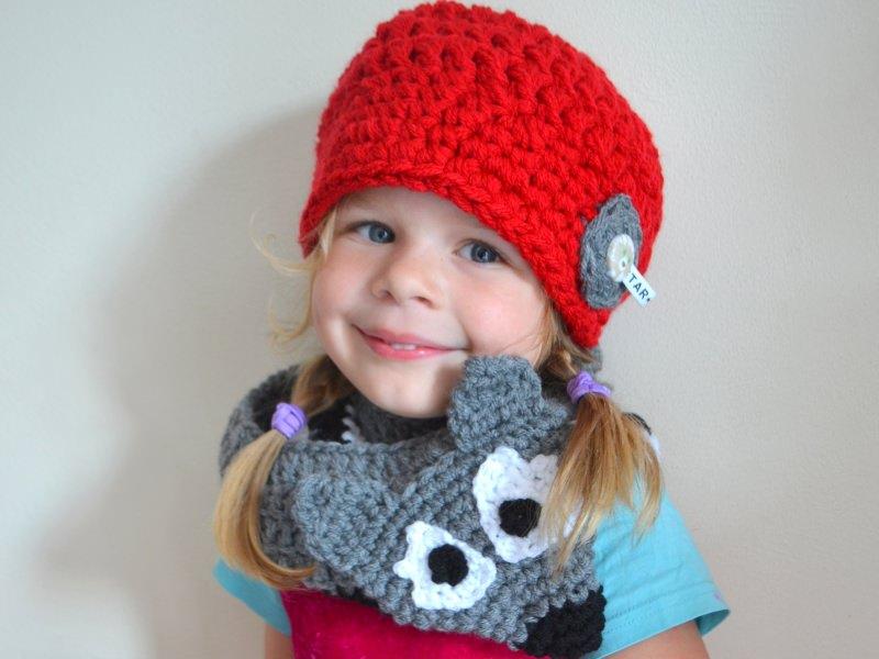- wunderschöner roter Kinderhäkelhut Kinderhut Rotkäppchen und der Wolf für Mädchen - wunderschöner roter Kinderhäkelhut Kinderhut Rotkäppchen und der Wolf für Mädchen