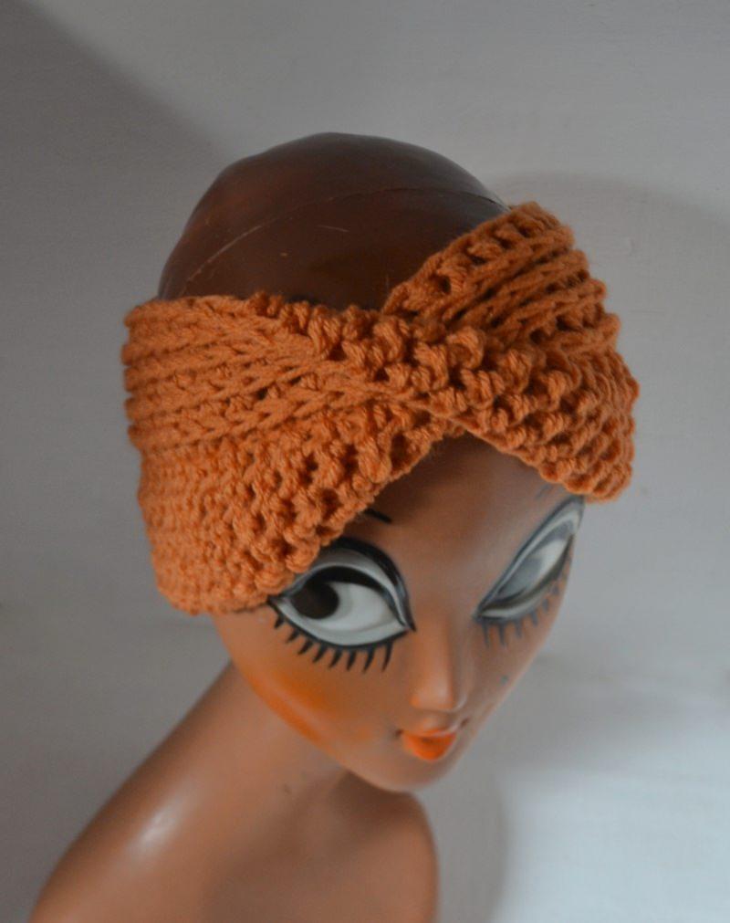 Kleinesbild - Stirnband Turban mit dem Dreh in schwarz