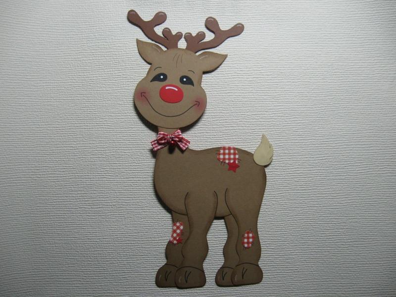 Kinder : Fensterbild Rudi Rentier Rudolph Elch Rudolf Weihnachten ...