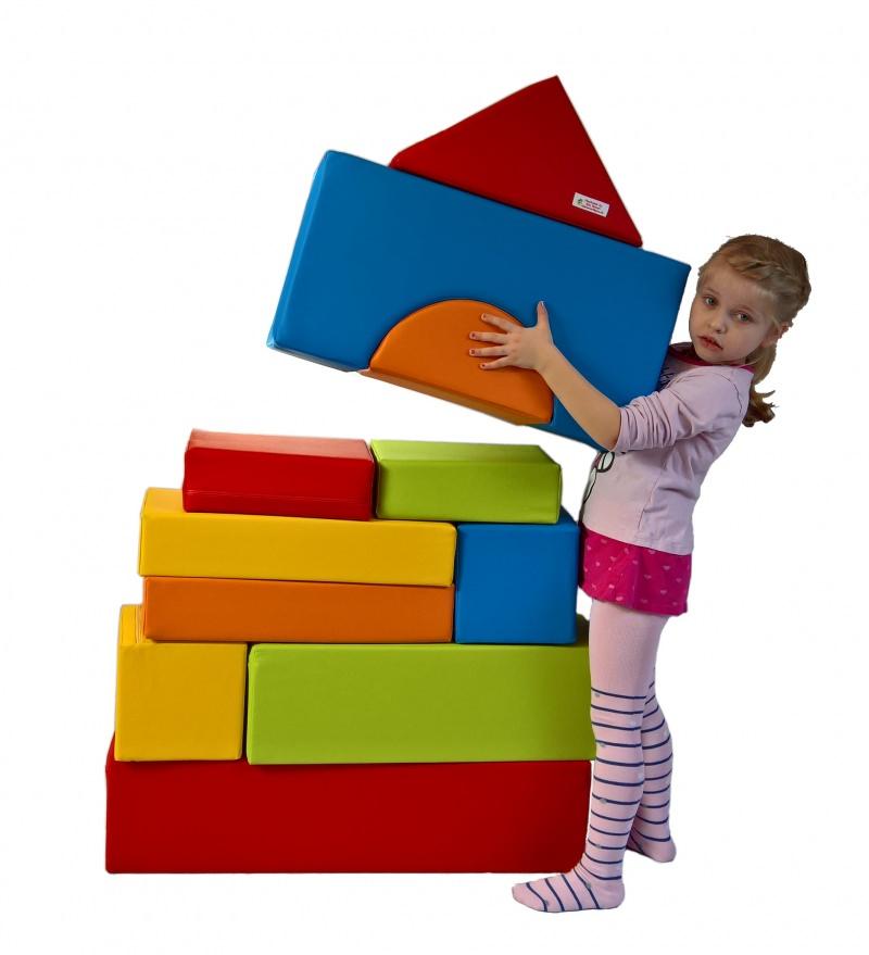 Spielsachen : 11 XXL Softbausteine, Schaumstoffbausteine, Bauklötze ...