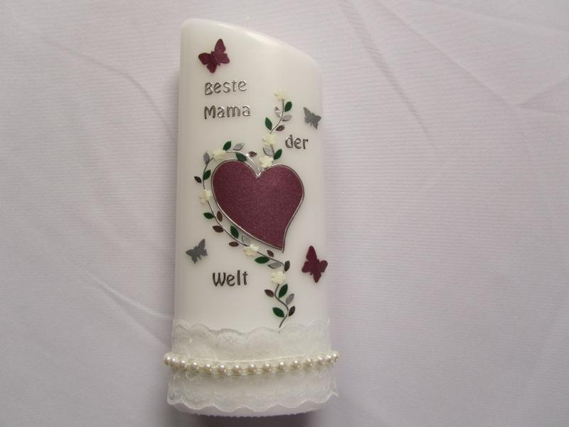 - Kerze als Muttertagsgeschenk - Kerze als Muttertagsgeschenk
