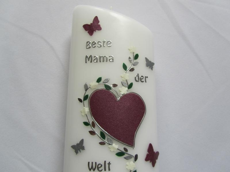 Kleinesbild - Kerze als Muttertagsgeschenk