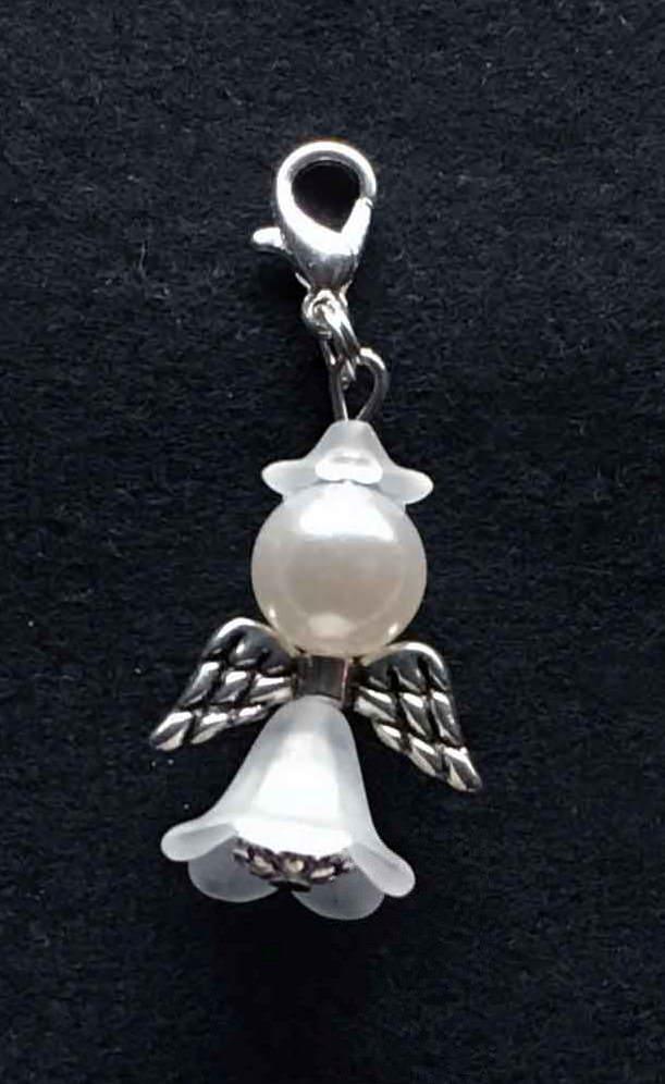 Kleinesbild - 25 x Perlenengel Glücksbringer Schutzengel Gastgeschenk weiß Hochzeit Taufe Kommunion Konfirmation