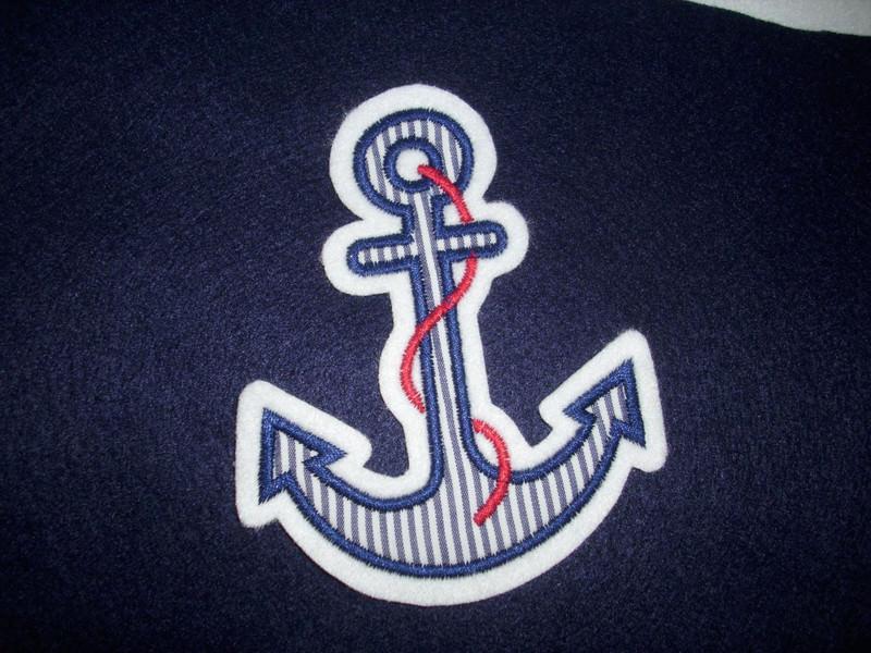 Kleinesbild - ♥ Anker ♥ Applikation ♥ Aufnäher ♥ maritim ♥ blau