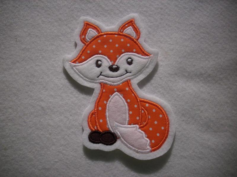 - süsser kleine Fuchs ★  Applikation ★  Aufnäher ★ orange  - süsser kleine Fuchs ★  Applikation ★  Aufnäher ★ orange