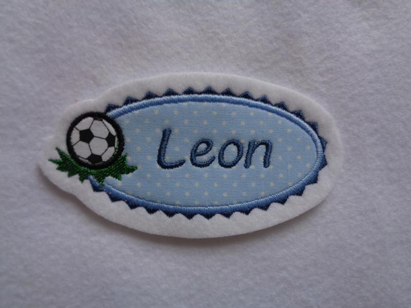 Kleinesbild - Für kleine Fussballfans ♥ toller Aufnäher ♥  max. 7 Buchstaben