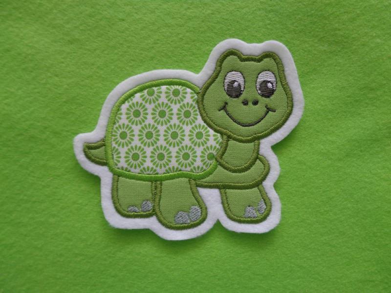 - Süsse Schildkröte ☆ Applikation ☆ Aufnäher ☆ grün ☆   - Süsse Schildkröte ☆ Applikation ☆ Aufnäher ☆ grün ☆