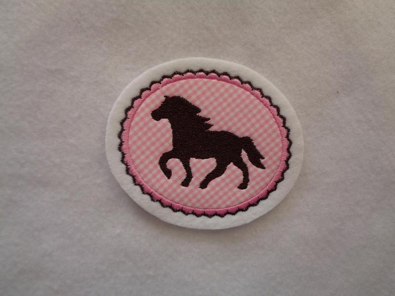- Pony gestickt ♥ süsse Applikation ♥ Aufnäher ♥ rosa  - Pony gestickt ♥ süsse Applikation ♥ Aufnäher ♥ rosa