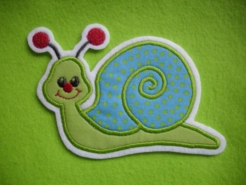 Kleinesbild - Süsse Schnecken-Applikation ♥ Aufnäher ♥ grün ♥  blau ♥