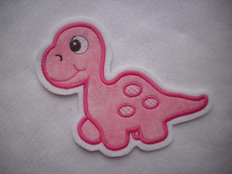 - Süsse Dino-Applikation ♥ Aufnäher ♥ rosa ♥ pink ♥  - Süsse Dino-Applikation ♥ Aufnäher ♥ rosa ♥ pink ♥