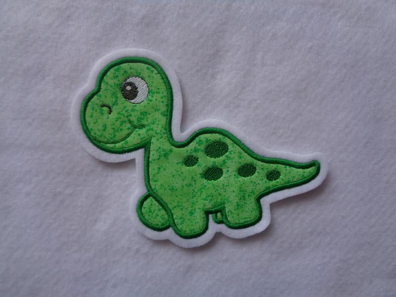 Kleinesbild - Süsse Dino-Applikation ♥ Aufnäher ♥ grün ♥