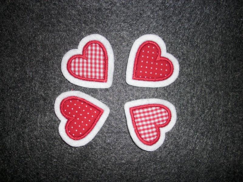 - Mini-Herzchen-Set ♥ Applikation ♥ Aufnäher ♥    - Mini-Herzchen-Set ♥ Applikation ♥ Aufnäher ♥