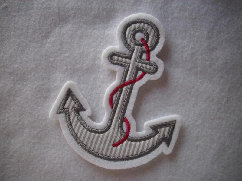 Kleinesbild - ♥ Anker ♥ Applikation ♥ Aufnäher ♥ maritim ♥ grau