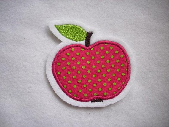 - niedlicher  Apfel   ☆ Applikation  ☆ Aufnäher  - niedlicher  Apfel   ☆ Applikation  ☆ Aufnäher