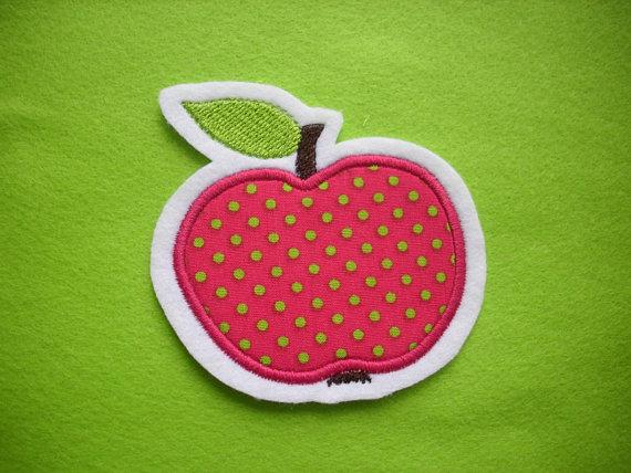 Kleinesbild - niedlicher  Apfel   ☆ Applikation  ☆ Aufnäher