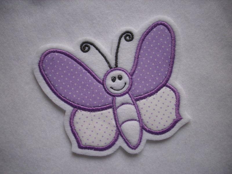 - Süsser Schmetterling ♥ Applikation ♥ Aufnäher  - Süsser Schmetterling ♥ Applikation ♥ Aufnäher