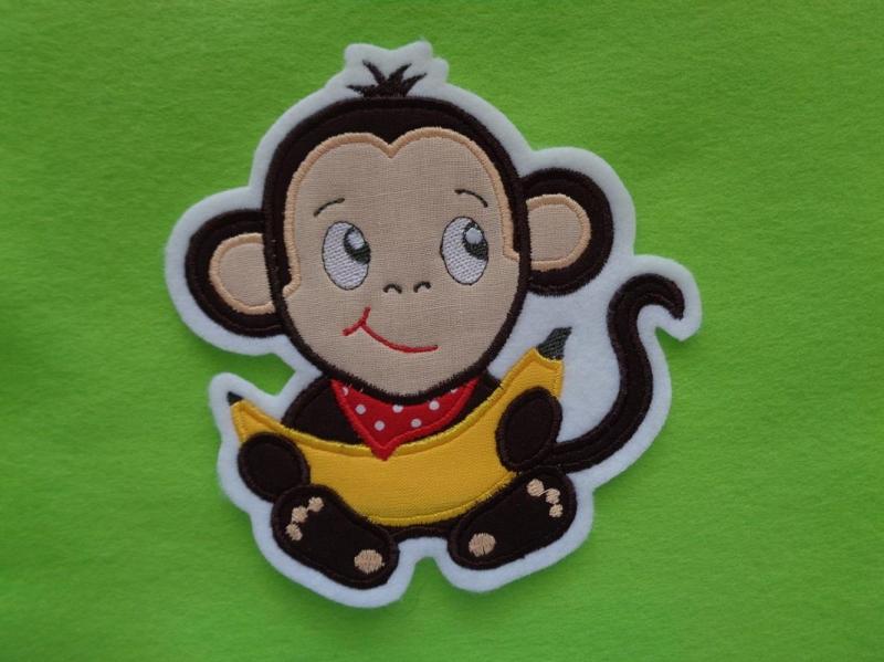 Kleinesbild - Niedlicher Affe ☆ Affenbaby  ☆ Applikation ☆ Aufnäher