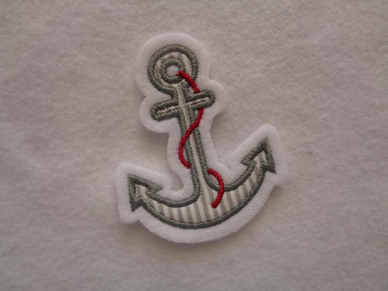 - ♥ Mini-Anker ♥ Applikation ♥ Aufnäher ♥ maritim ♥ grau - ♥ Mini-Anker ♥ Applikation ♥ Aufnäher ♥ maritim ♥ grau