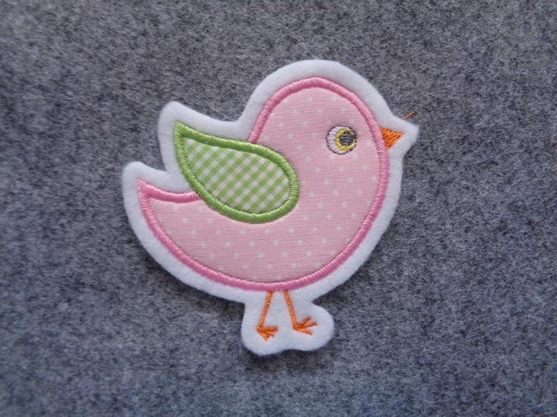Kleinesbild - Süsses Vögelchen ☆☆  Applikation ☆☆ Aufnäher☆☆