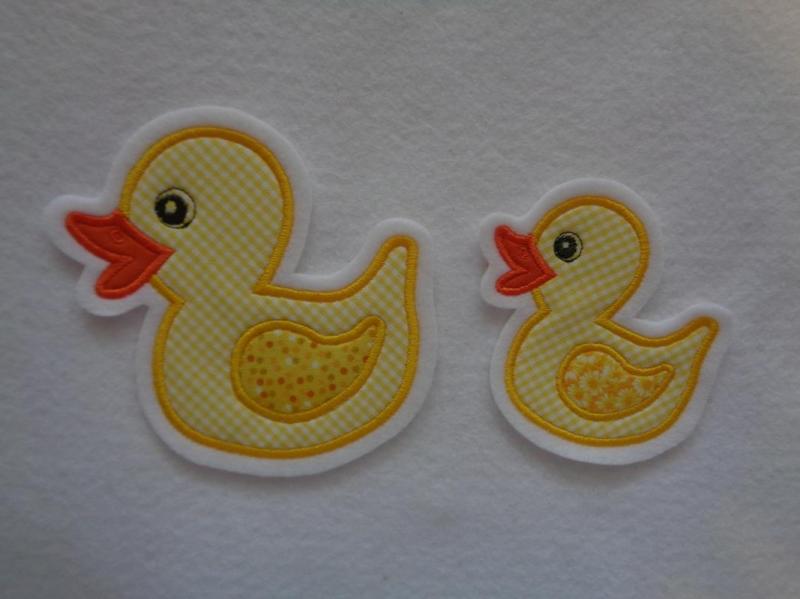 Kleinesbild - Süsse Ente groß und kleines Entchen ♥ Applikation ♥ Aufnäher