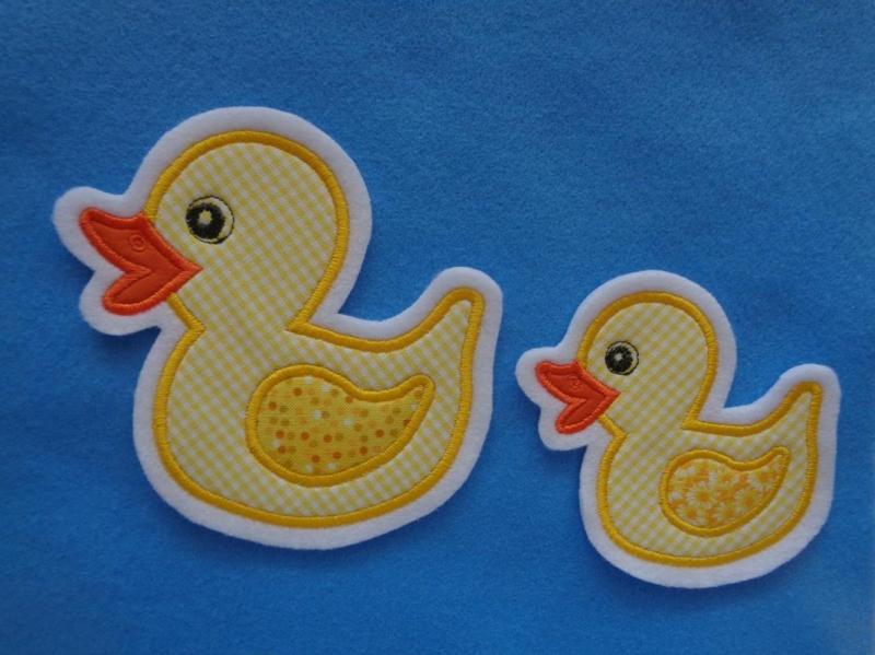 - Süsse Ente groß und kleines Entchen ♥ Applikation ♥ Aufnäher - Süsse Ente groß und kleines Entchen ♥ Applikation ♥ Aufnäher
