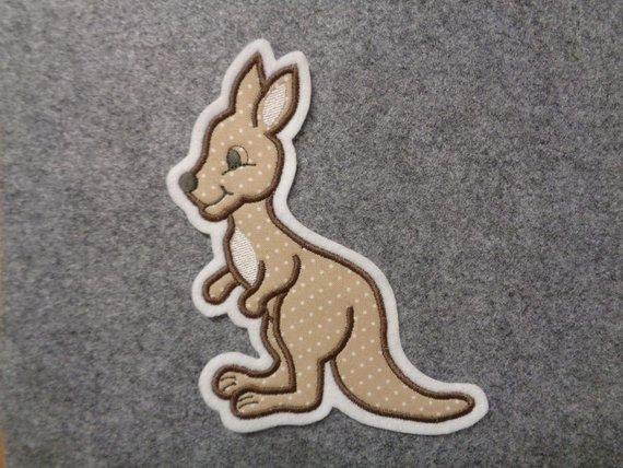 - Süsses Känguru ♥ Applikation ♥ Aufnäher  - Süsses Känguru ♥ Applikation ♥ Aufnäher