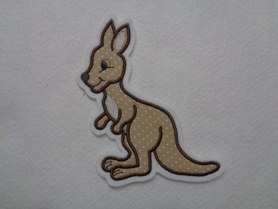 Kleinesbild - Süsses Känguru ♥ Applikation ♥ Aufnäher