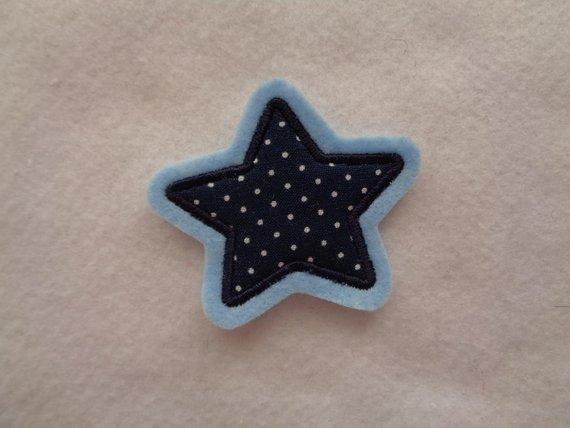 - Sternchen blau  ♥  ♥ Applikation ♥ Aufnäher - Sternchen blau  ♥  ♥ Applikation ♥ Aufnäher