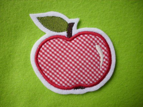 Kleinesbild - niedlicher  Apfel   ☆ Applikation  ☆ Aufnäher  (Kopie id: 100106267)