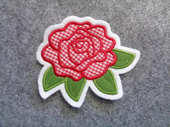 Kleinesbild - Rose ☆ Blume   ☆ Applikation / Aufnäher