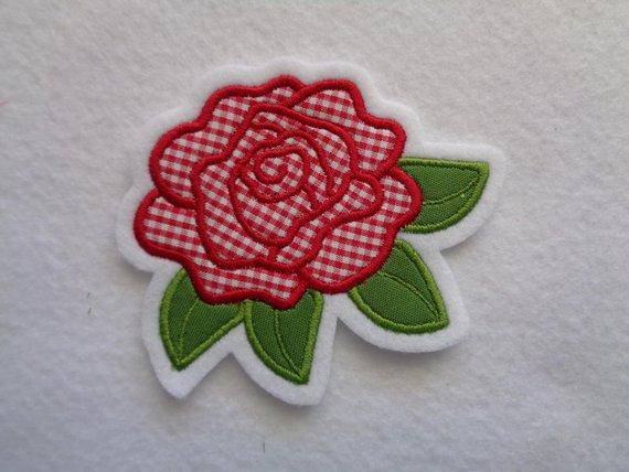 - Rose ☆ Blume   ☆ Applikation / Aufnäher  - Rose ☆ Blume   ☆ Applikation / Aufnäher