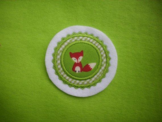 Kleinesbild - Mini-Button Fuchs ♥ Applikation ♥ Aufnäher♥ grün  (Kopie id: 100121311)